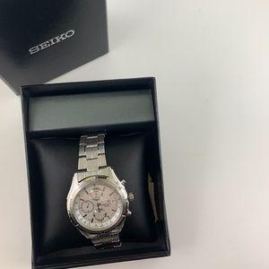 NWT Seiko Chronograph Quartz Men's Watch